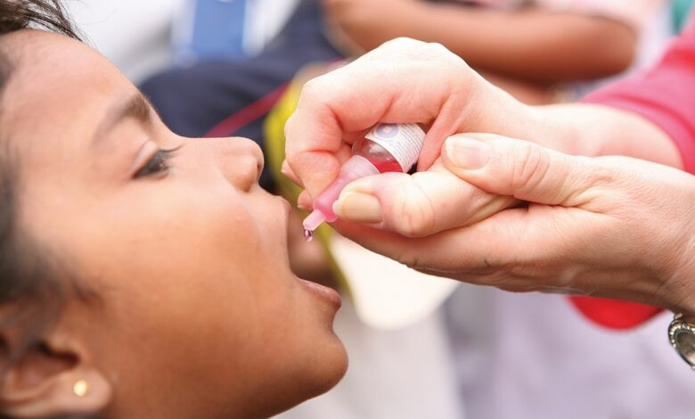 تطعيم فيروس شلل الاطفال الجديد