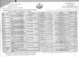 جدول التطعيمات الإجبارية في مصر