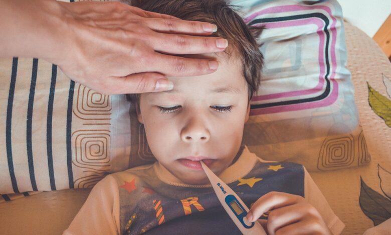 اسباب السخونة عند الاطفال